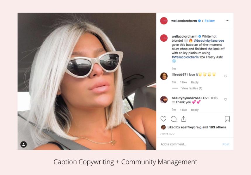 Caption Copywriting + Community Management